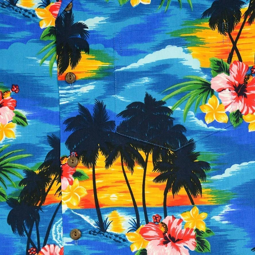 skyburst hawaiian cotton shirt | hawaiian shirt men