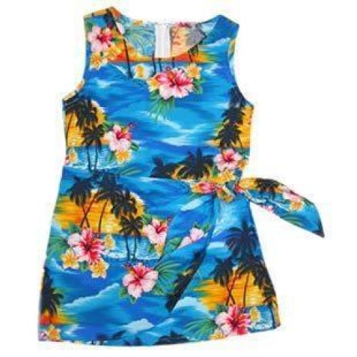 skyburst hawaiian girl sarong dress | hawaiian girl dress
