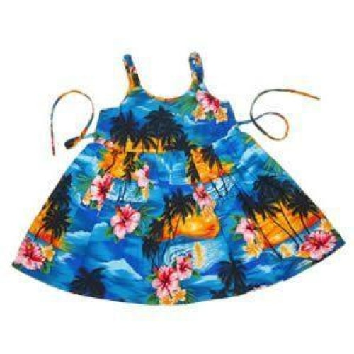 skyburst hawaiian girl sundress | hawaiian girl dress