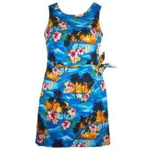 skyburst hawaiian sarong dress | short dress hawaiian