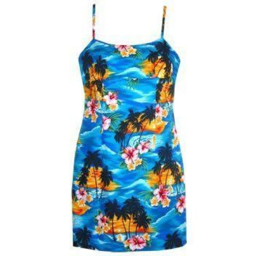 skyburst hawaiian spaghetti dress | short dress hawaiian