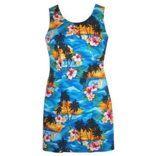 skyburst hawaiian tank dress | short dress hawaiian