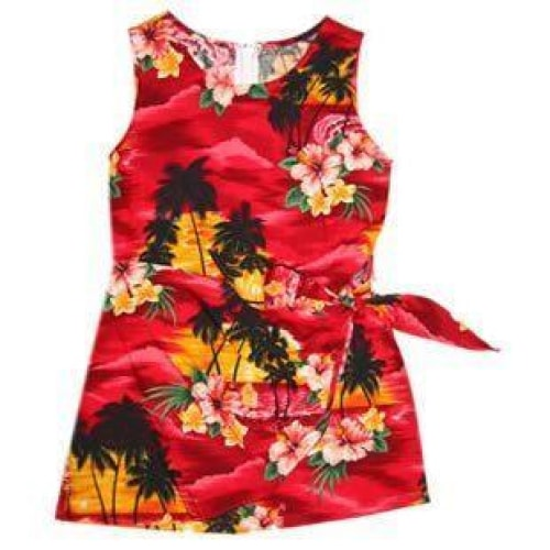sunburst hawaiian girl sarong dress | hawaiian girl dress