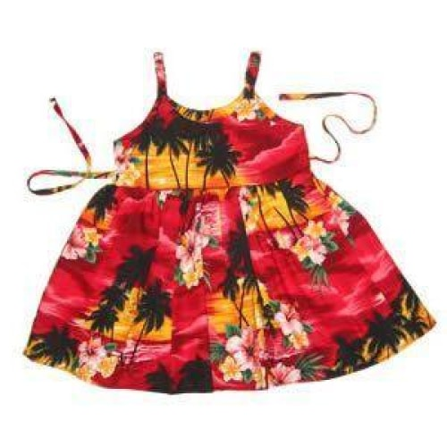 sunburst hawaiian girl sundress | hawaiian girl dress
