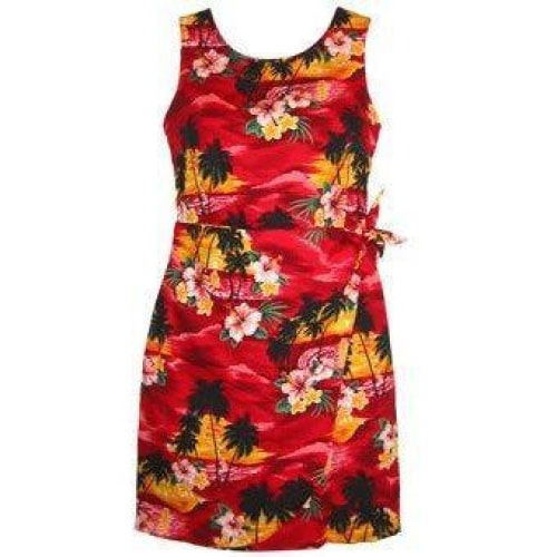 sunburst hawaiian sarong dress | short dress hawaiian