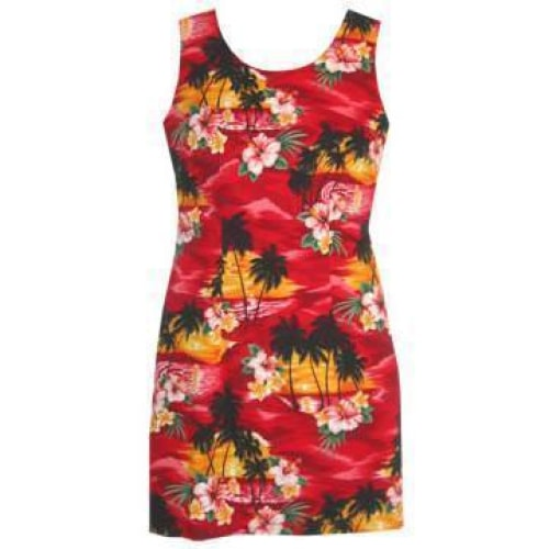 sunburst hawaiian tank dress | short dress hawaiian