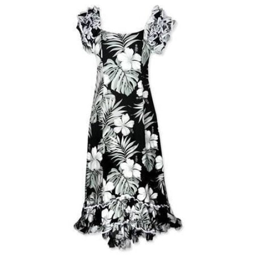 waikiki black meaaloha hawaiian dress | long dress hawaiian