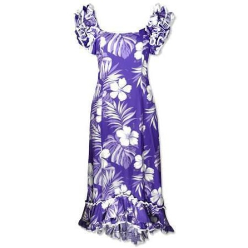 waikiki purple meaaloha hawaiian dress | long dress hawaiian