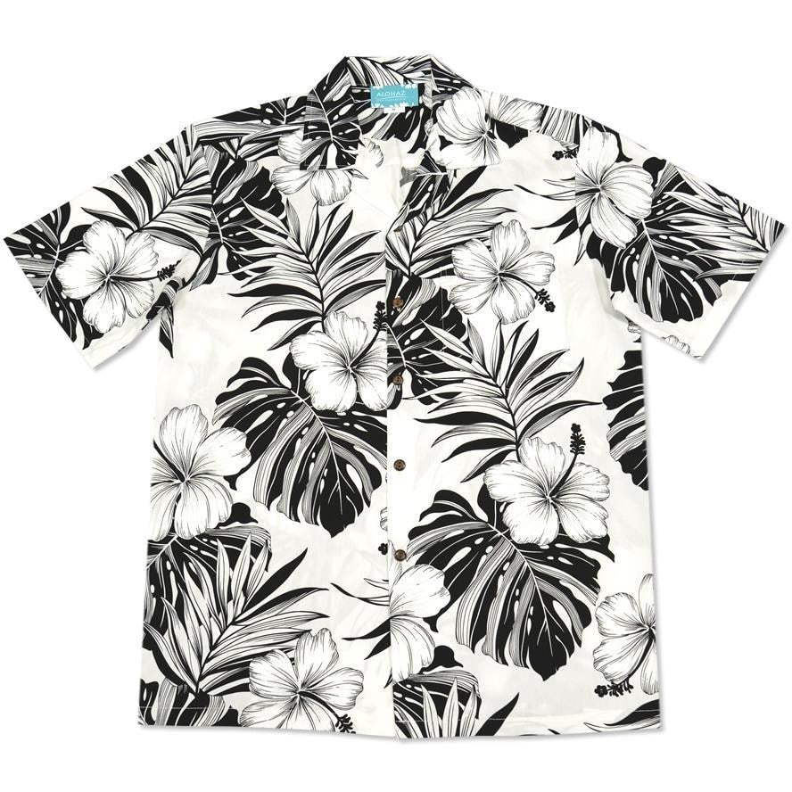 waikiki white hawaiian cotton shirt | hawaiian shirt men