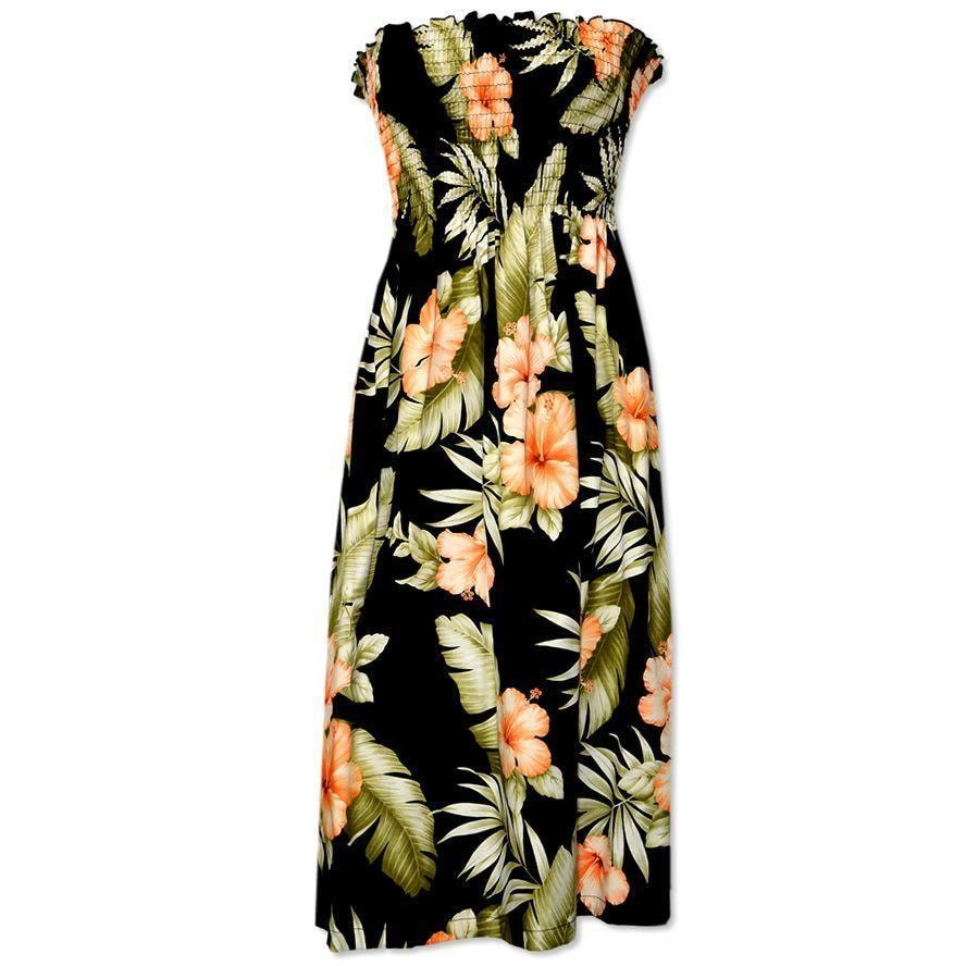 waimea black hawaiian sunkiss dress | short dress hawaiian