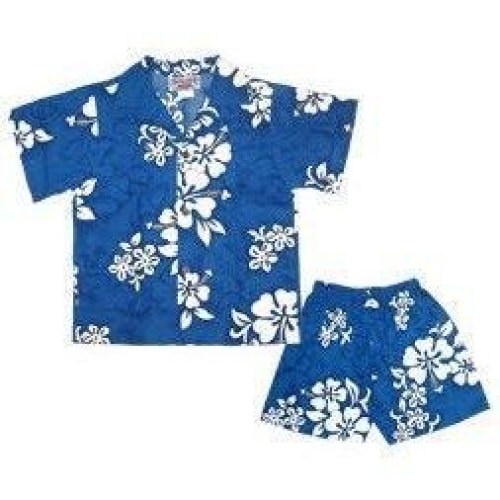 waves hawaiian boy cabana set | hawaiian boy shirt cabana