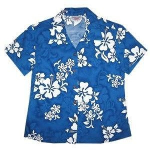 waves hawaiian lady blouse | women blouse hawaiian