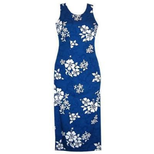 waves hawaiian long tank dress | long dress hawaiian