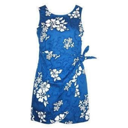 waves hawaiian sarong dress | short dress hawaiian