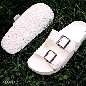 white buckle jandals® - pali hawaii Jesus sandals | hawaiian sandals pali hawaii flip flops