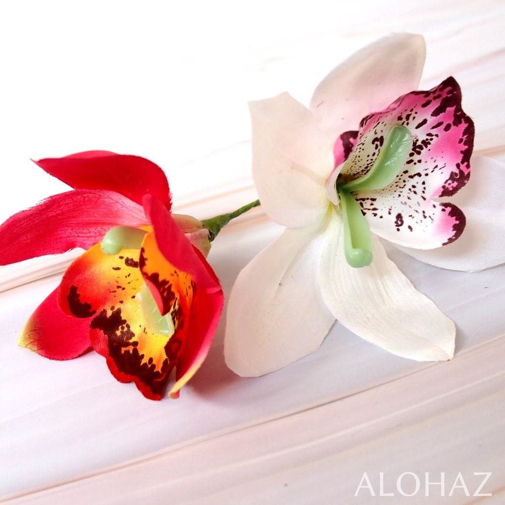 White Cattleya Hawaiian Flower Stick | Hair Accessories