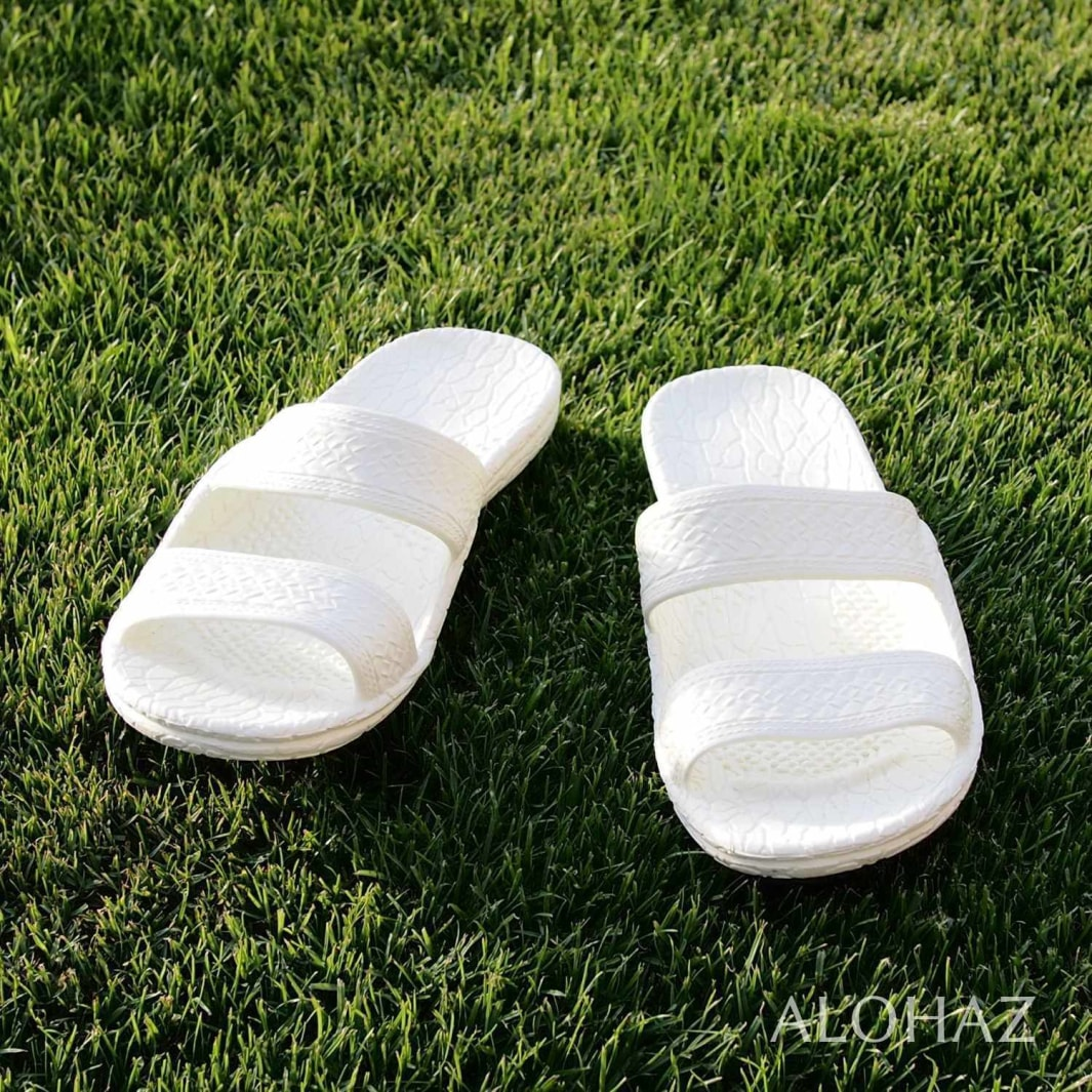 white classic jandals® - pali hawaii Jesus sandals | hawaiian sandals pali hawaii flip flops