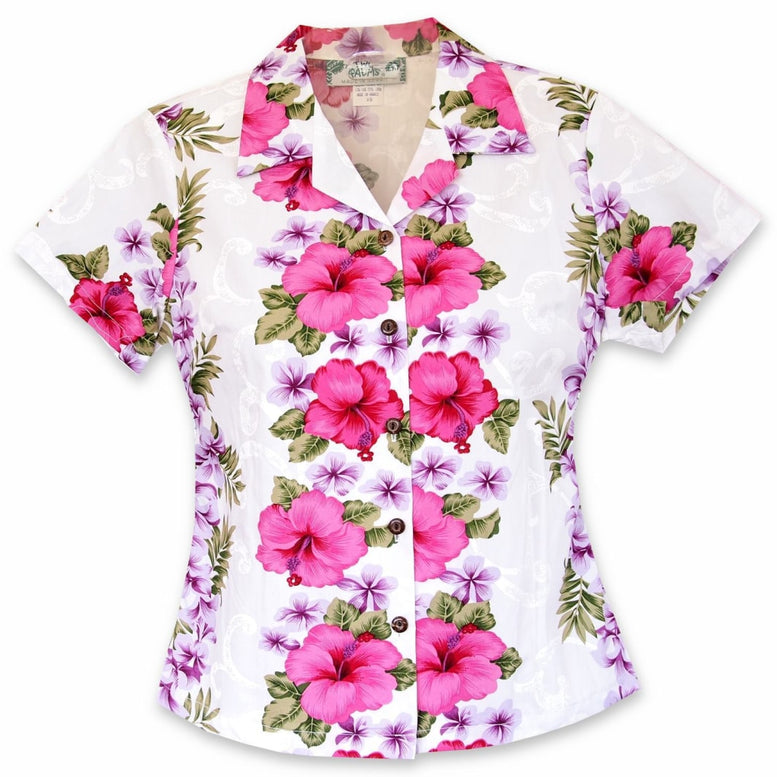 white mist hawaiian lady blouse | women blouse hawaiian
