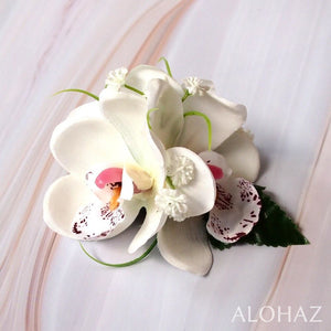 White Orchid Wonder Hawaiian Flower Hair Clip | Hair Accessories