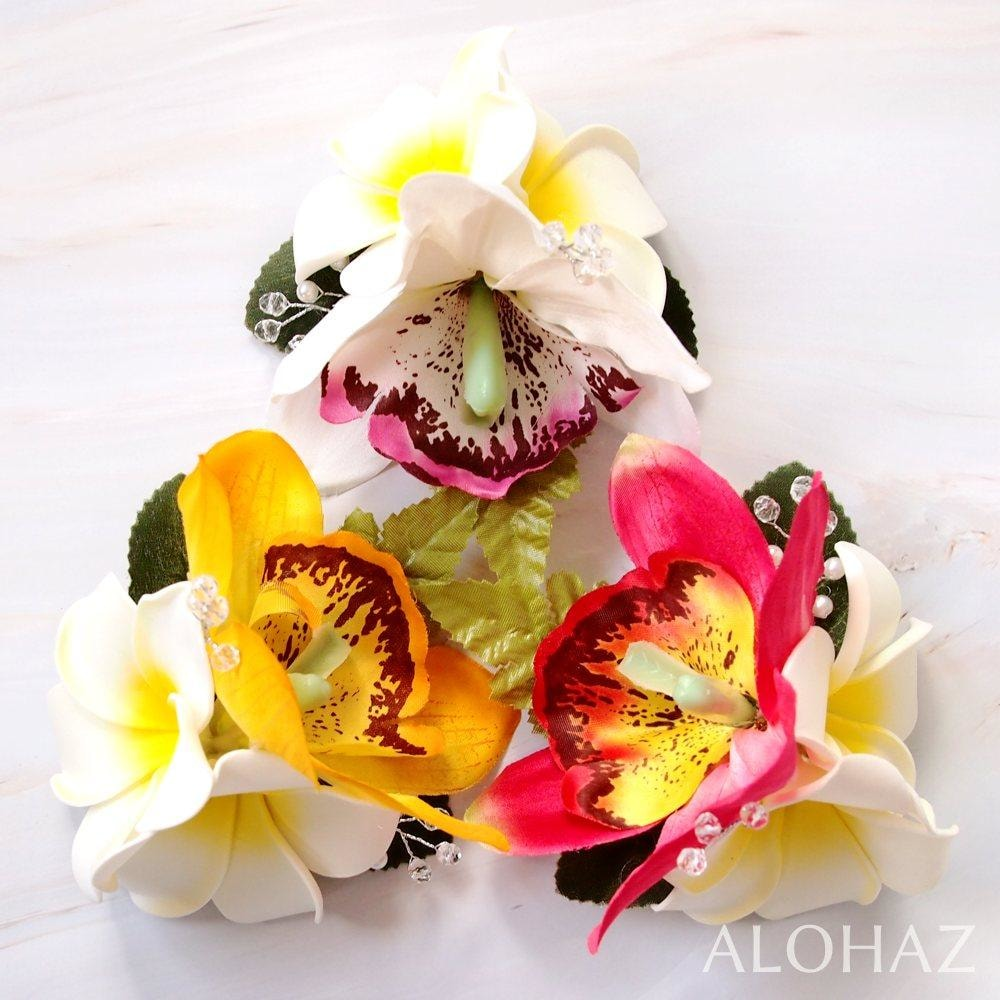 White Paradise Hawaiian Flower Hair Clip | Hair Accessories