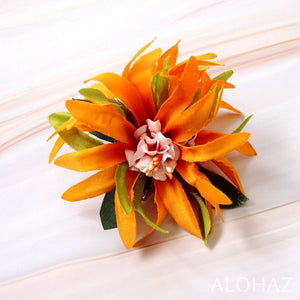 Yellow Aster Hawaiian Flower Hair Clip | Hair Accessories