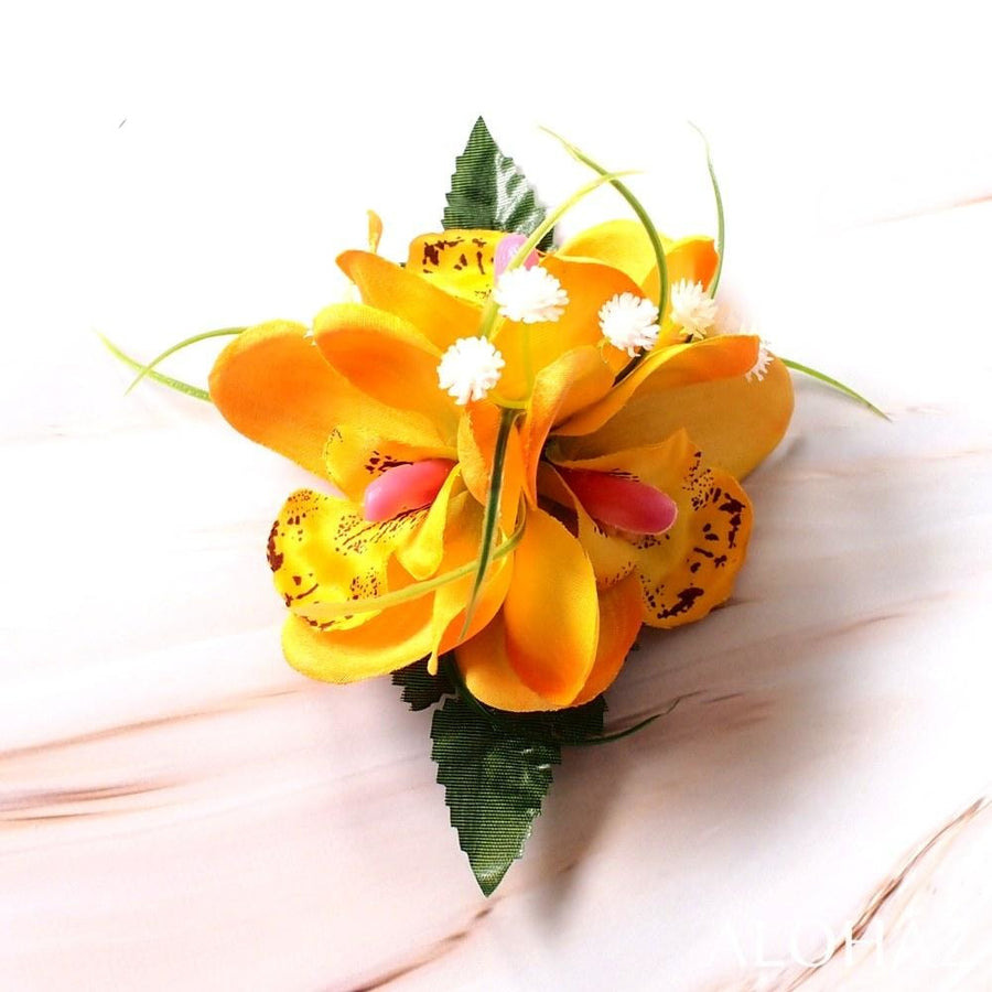 Yellow Orchid Wonder Hawaiian Flower Hair Clip | Hair Accessories