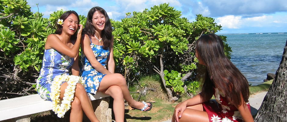 short hawaiian dresses