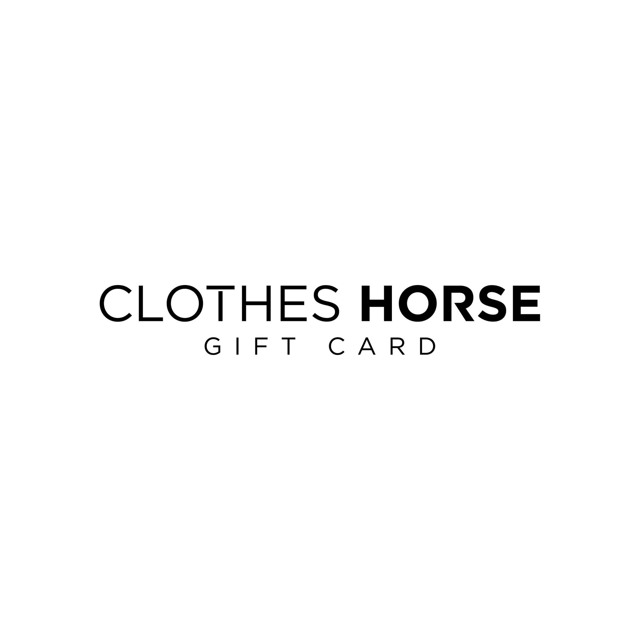 Clothes Horse Gift Card