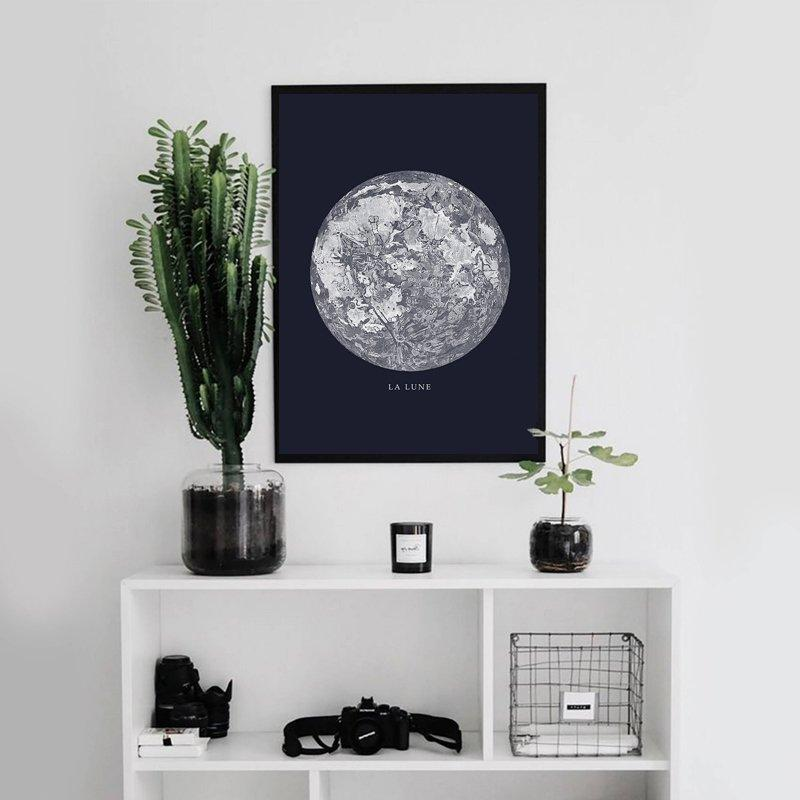 Moon Canvas Poster