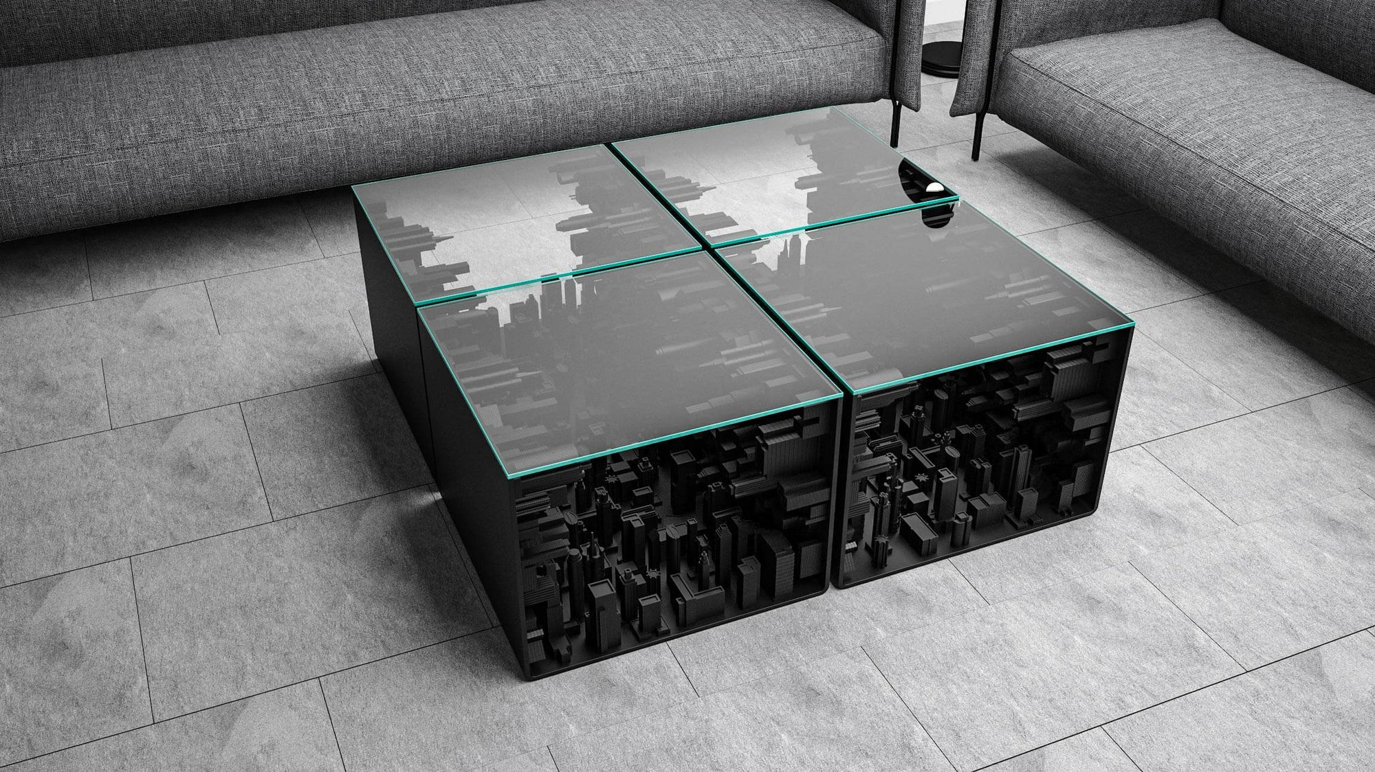 Black Edition City Cube Coffee Table
