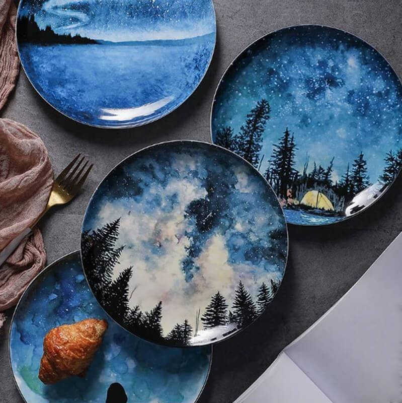 Nighttime Ceramic Plate