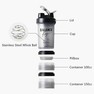 Sporty Fitness Multi-Use Shaker Bottle