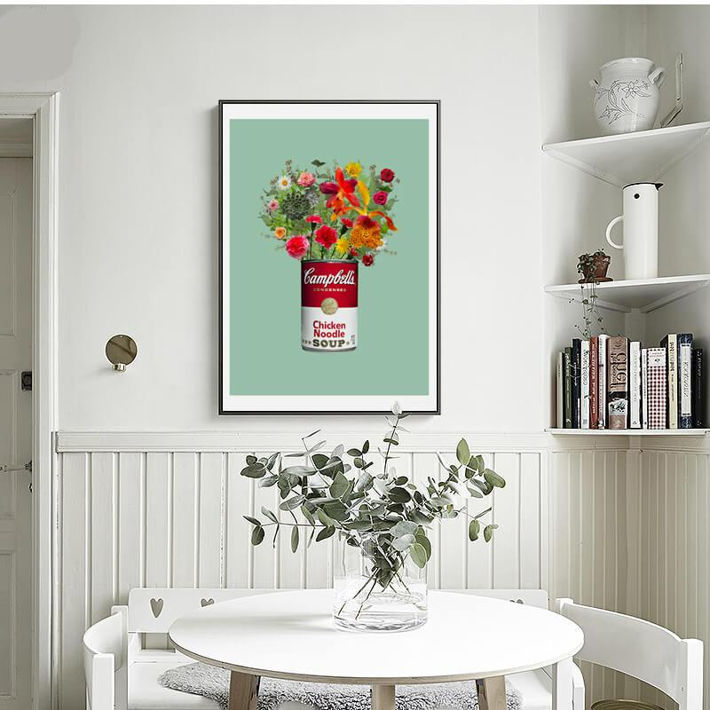 Floral Campbells Wall Posters