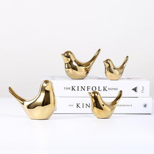 Gold Bird Figurine