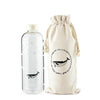 1L Ocean Series Glass Water Bottle