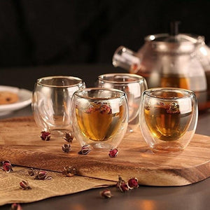Double Walled Glass Coffee Mug Set