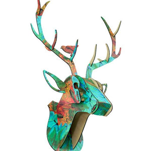 DIY 3D Wall-Mounted Wooden Deer Head