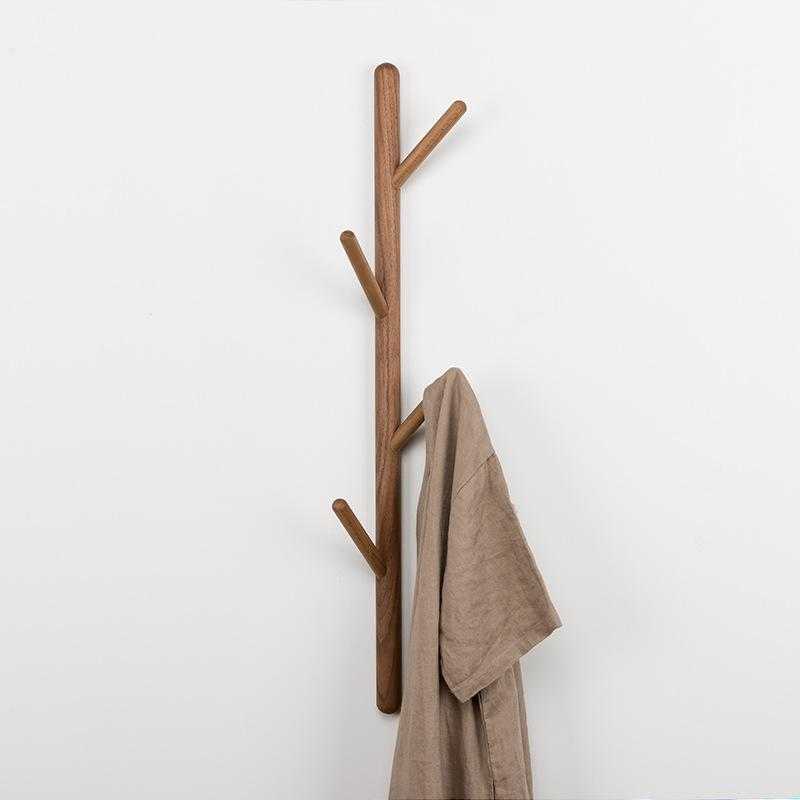 Wall Mounted Clothing Wood Rack