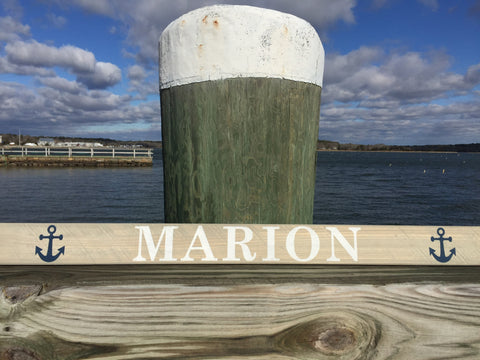 "Marion anchor personalized barn board 3"" x 36"""