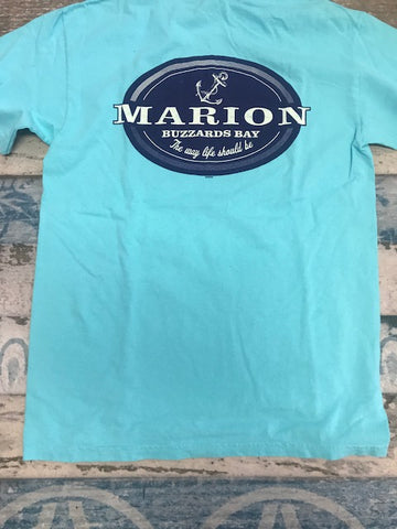 Short sleeve T shirt Aqua Marion the way life should be