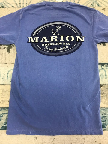Short sleeve T shirt Blue Jean Marion the way life should be