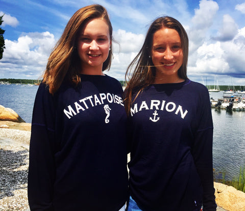 Spirit Shirt Navy Soft Heathered Marion Anchor