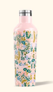 Canteen 16 oz pink floral tapestry