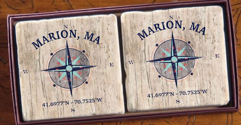 Marion Compass Coasters (set of 2)