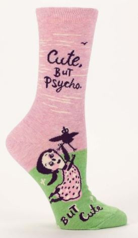 Socks cute but psycho crew women