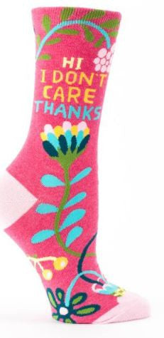Socks hi i dont care thanks crew women