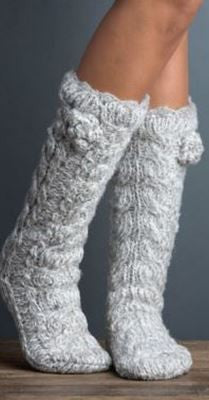 Sock Lined Faux Fur Light Grey or Dark Grey