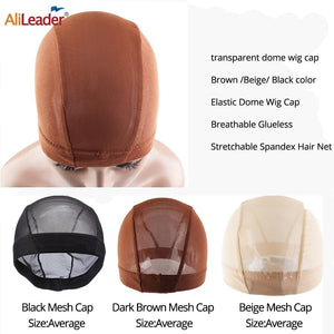 Brown Beige Breathable Mesh Dome Cap