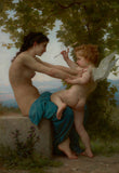 A Young Girl Defending Herself against Eros by Adolphe William Bouguereau