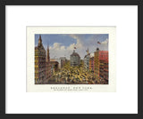 Currier & Ives Broadway framed print